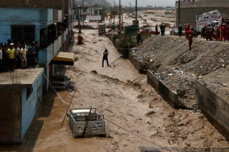 Musibah banjir bandang menewaskan 72 orang di Peru (Foto: Guadalupe Pardo/Reuters)