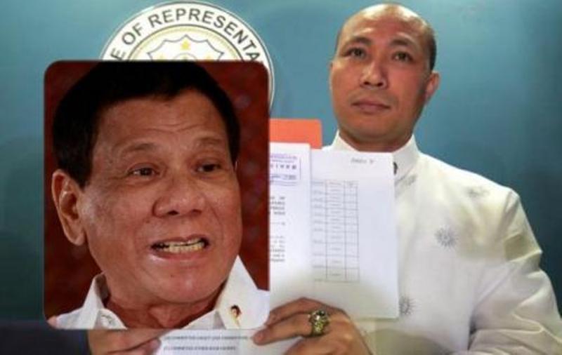 Gary Alejano mengajukan gugatan pemakzulan terhadap Presiden Filipina Rodrigo Roa Duterte (Foto: Interaksyon)