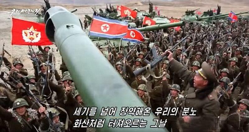 Screenshot rekaman video propaganda anti-Amerika milik Korut. (Foto: Daily Mail)