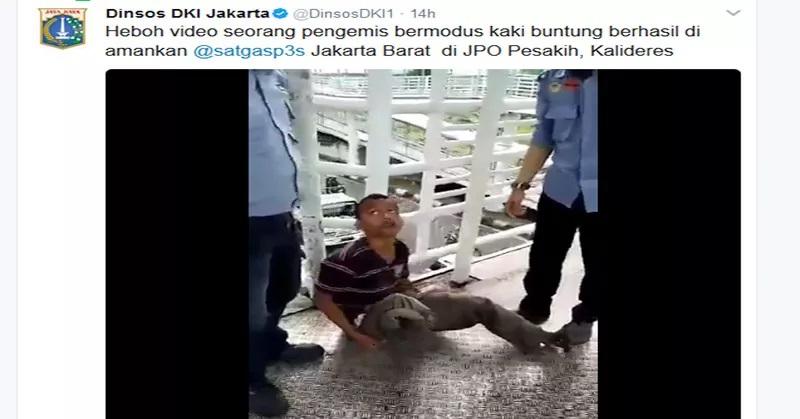 Heboh! Video Pengemis Pura - Pura Buntung