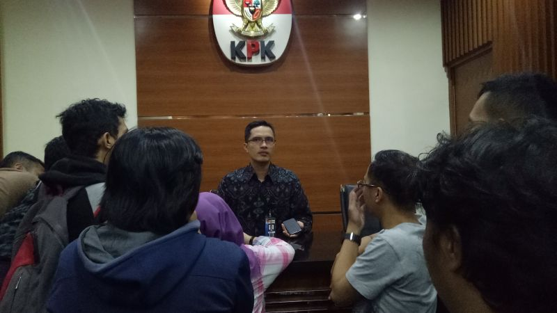 Jubir KPK Febri Diyansyah (Foto: Putera Negara/Okezone)