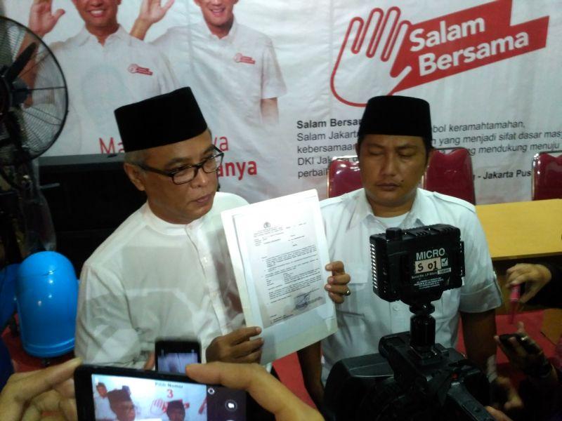 Wakil Ketua Tim Advokasi Anies-Sandi, Yupen Hadi. (Foto: Dara Purnama/Okezone)