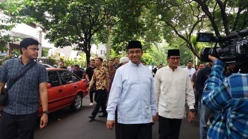 Pasangan calon Pilkada DKI Anies Baswedan-Sandiaga Uno.