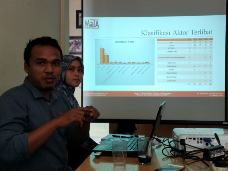 Peneliti MaTa saat rilis hasil riset (Foto: Rayful Mudassir/Okezone)