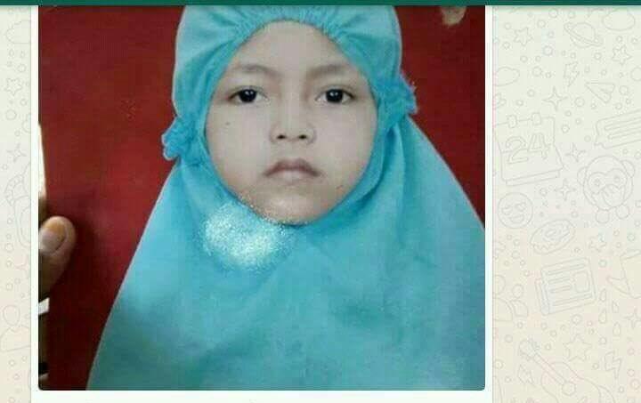 Anak hilang bernama Laras (Foto: @TMCPoldaMetro)