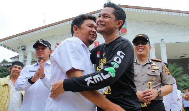 Alhamdulillah...Ojek Online dan Sopir Angkot Bogor Deklarasi Damai