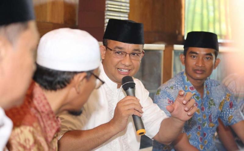Ilustrasi Anies memaparkan program di tengah warga Jakarta (Foto: Okezone)