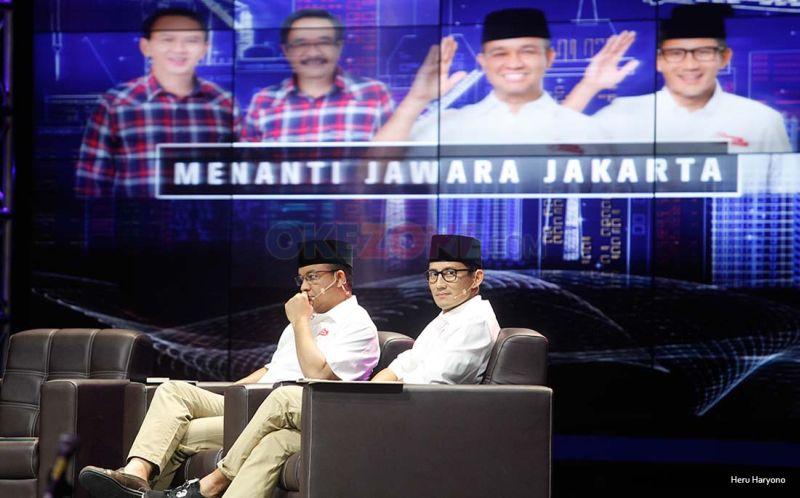 INews TV: Saling Memahami, Anies-Sandi Tampil Kompak Di INews TV