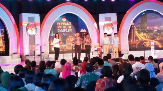 Debat final Pilkada DKI (Foto: Okezone)