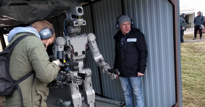 Tak Hanya dalam Film, Rusia Ciptakan Robot untuk Perang