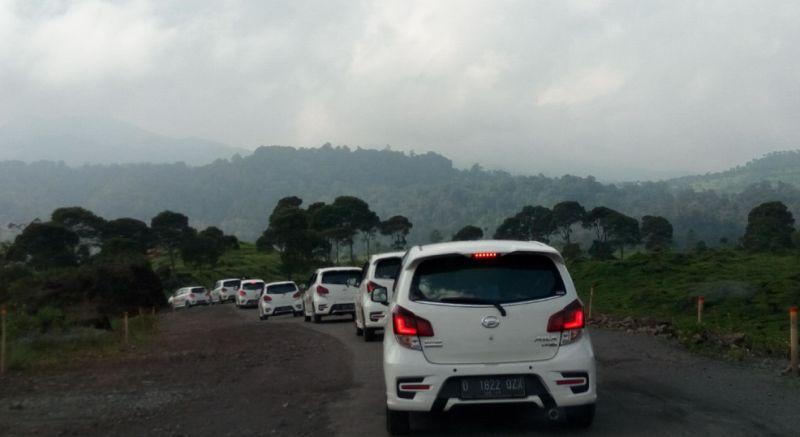 Test drive Daihatsu new Ayla di Bandung (Foto: Santo/Okezone)