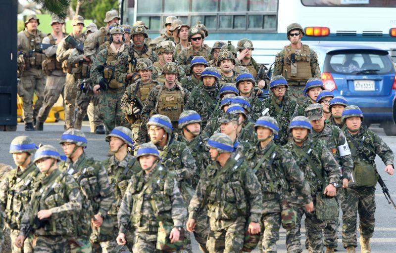 Foto tentara Amerika Serikat dan Korea Selatan (Foto: EPA/YNA)