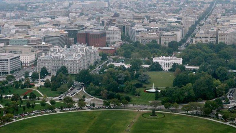 Trotoar sisi selatan Gedung Putih yang berada di depan air mancur akan ditutup untuk publik (Foto: Getty Images)