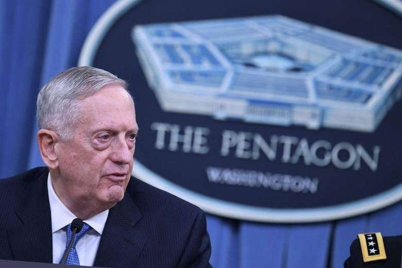 Foto Menteri Pertahanan Amerika Serikat, James Mattis (Foto: AFP)