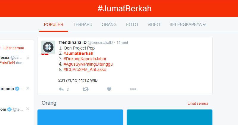 #JumatBerkah Kembali Ramaikan Linimasa Twitter