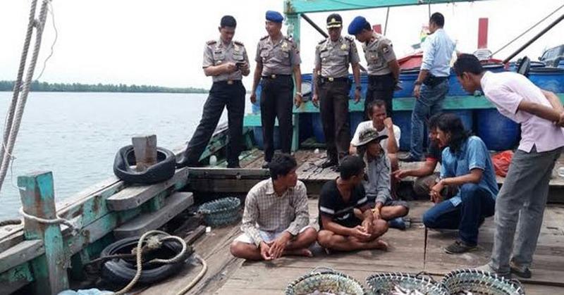 Ilustrasi penangkapan kapal nelayan asing (foto: Okezone)