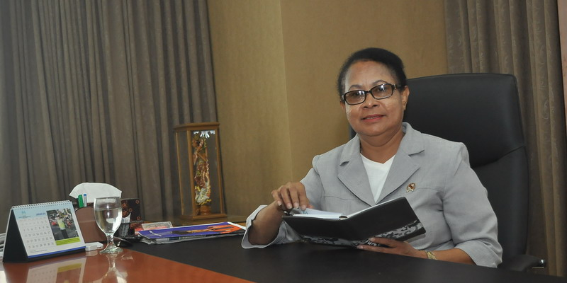 Menteri Yohana Yembise. (Foto: Feri/Okezone)