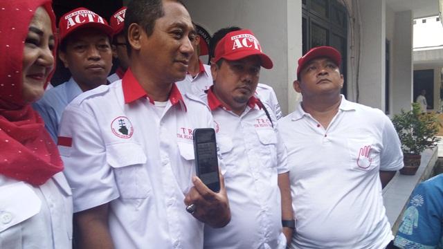 Sekjen ACTA Jamal Yamani di Bawaslu DKI  (Foto: Taufik Fajar)