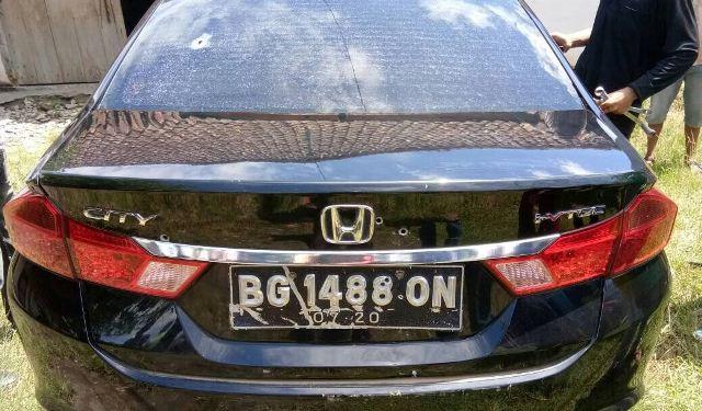 Sedan Honda City dalam razia berdarah di Lubuklinggau (Foto: Okezone)