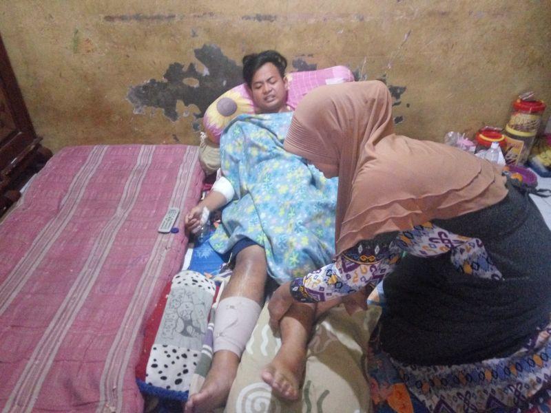 Selamat Dari Kecelakaan Maut Puncak Kaki Dan Tangan Hasanudin Luka Parah Okezone Megapolitan