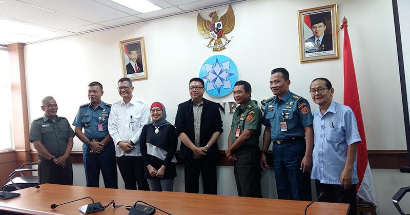 Perwakilan Mabes TNI sambangi Dewan Pers. (Foto: Lina/Okezone)