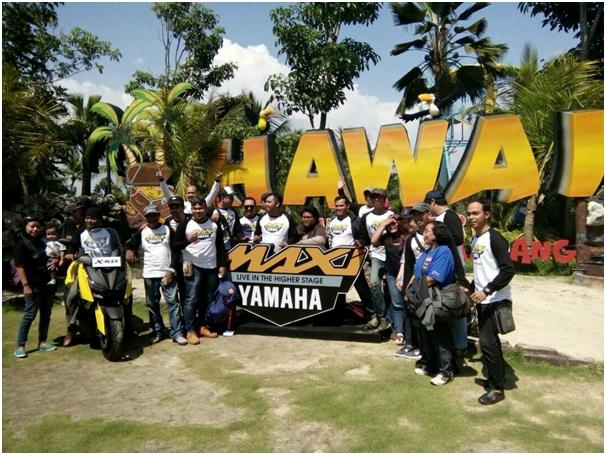 Ribuan MAXI Riders Tumpah Ruah Meriahkan #MaxiYamahaDay di Malang