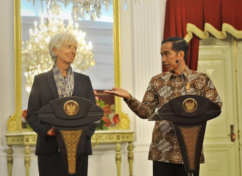 Kala Jokowi dan Lagarde Bicara soal Pertemuan IMF-World Bank hingga ASEAN