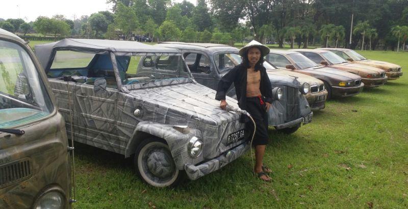 Mobil menjadi obyek lukisan memiliki nilai tinggi (Foto: Prabowo/Okezone)
