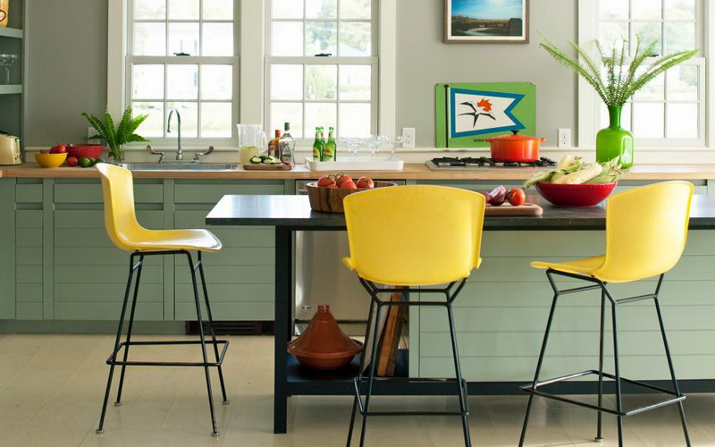 Warna Cat Rumah Netral  dekorasi dapur jangan pakai warna netral terus coba biru