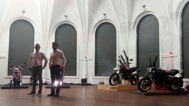 Peluncuran empat motor baru Ducati di Indonesia. (Foto: Santo Evren Sirait/Okezone)