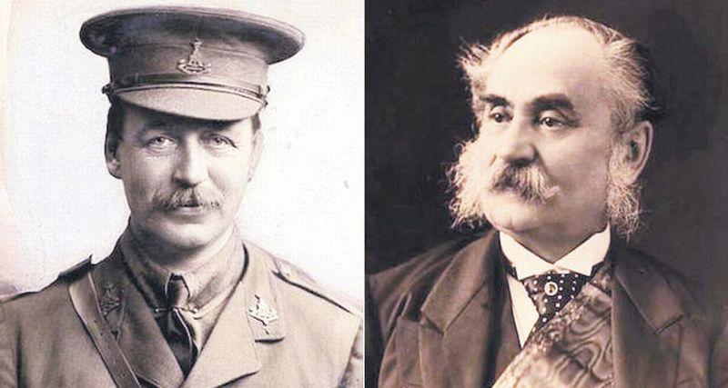 Perwakilan Inggris, Sir Mark Sykes dan Perwakilan Prancis, Francois Georges Picot. (Foto: Daily Sabah)