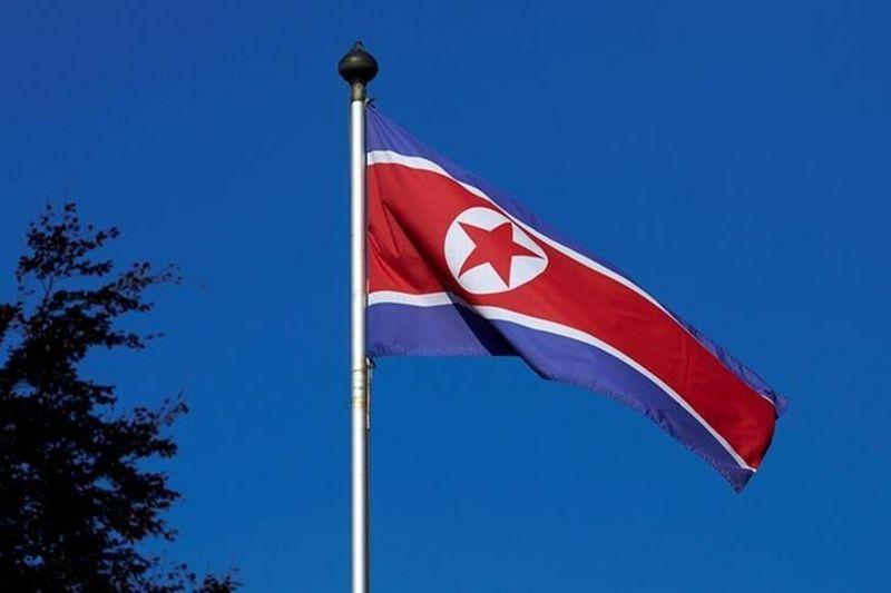 Foto bendera Korea Utara (Foto: Reuters)