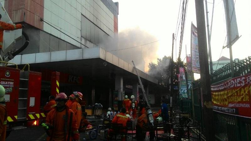 Image result for kebakaran pasar minggu