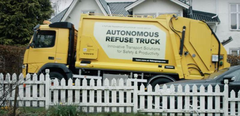 Truk sampah Volvo berteknologi otonom (Youtube/Volvo Trucks)