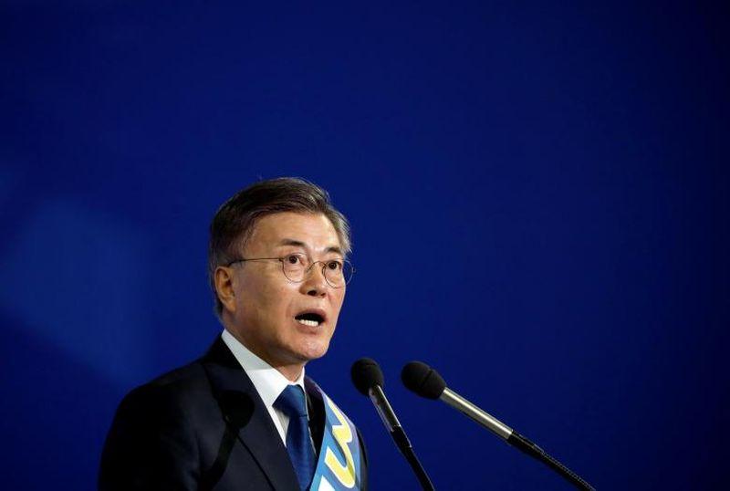 Foto Presiden Korea Selatan yang baru, Moon Jae-in (Foto: Reuters)