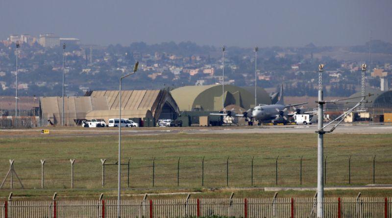 Foto markas udara Incirlik di Turki (Foto: AFP)
