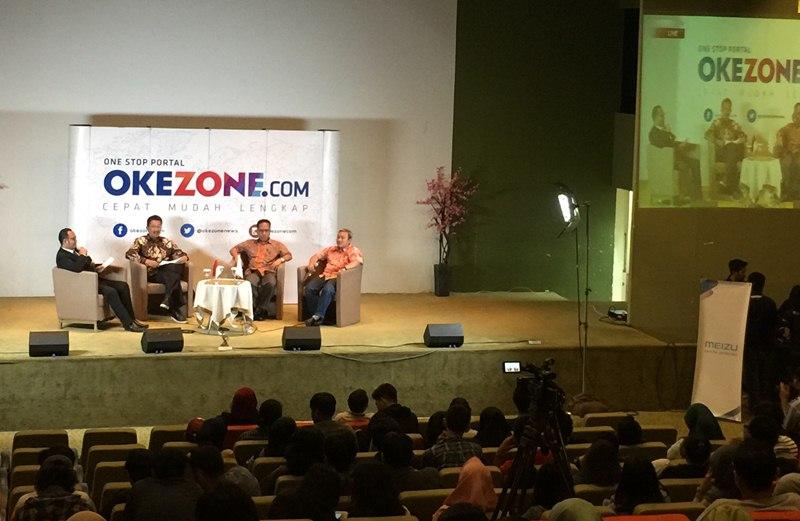 Meizu sebagai pendukung acara Okezone Goes to Campus di Universitas Mercu Buana (UMB) (Foto: Ist)