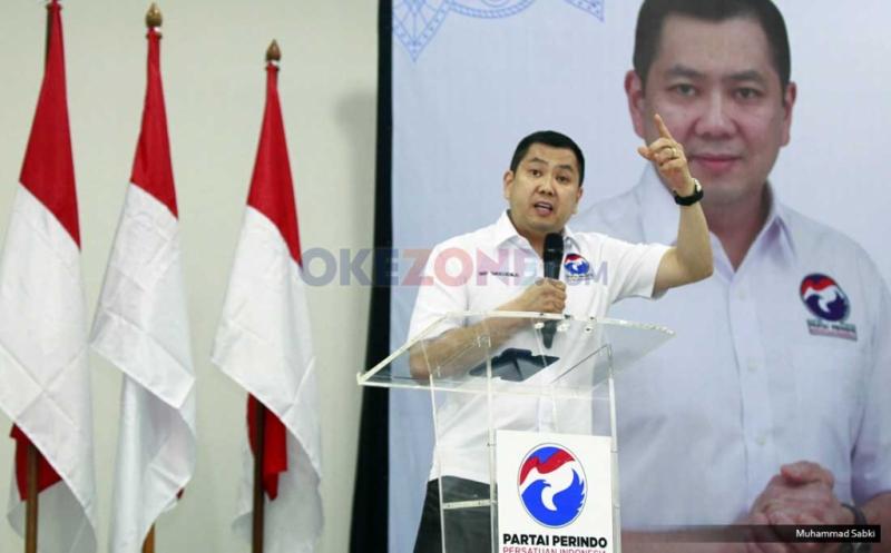 Ketua Umum Partai Perindo Hary Tanoesoedibjo. (Foto: Muhammad Sabki/Okezone)