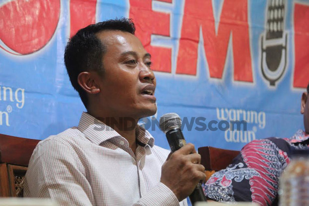 Sejen Partai Perindo Ahmad Rofiq di diskusi Polemik SindoTrijayaFM (Sutikno/Sindonews)