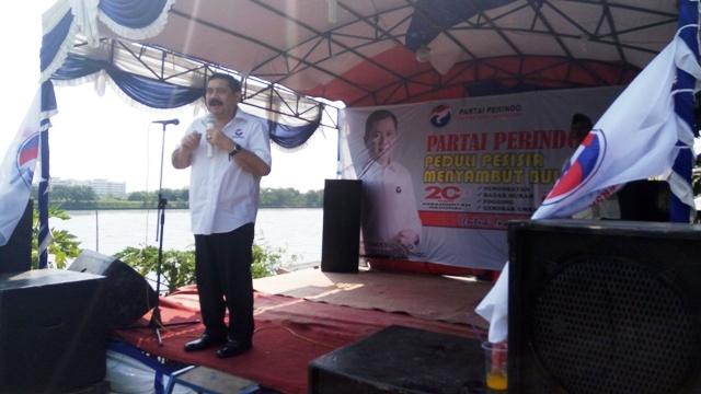Ketua DPW Partai Perindo DKI Jakarta Sahrianta Tarigan. (Foto: Taufik Fajar/Okezone)