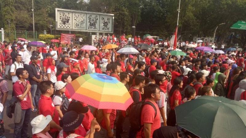 Peringatan Harkitnas 2017 di Taman Aspirasi Monas, Jakarta (Dara/Okezone)