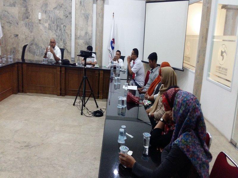 Korban penipuan investasi bodong di DPP Perindo (foto: Okezone)