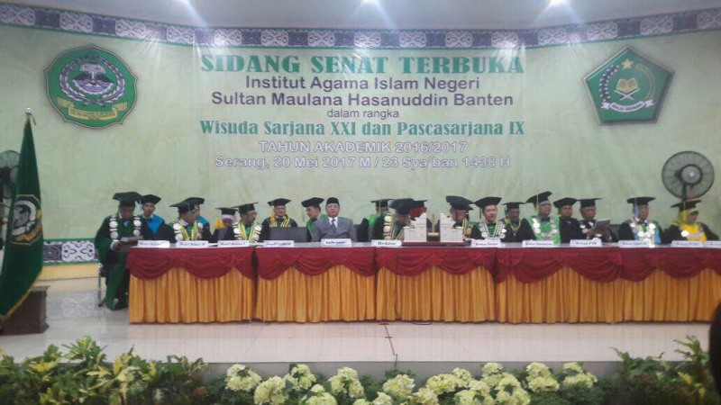 Wisuda di IAIN Sultan Maulana Hasanuddin Banten (Istimewa)