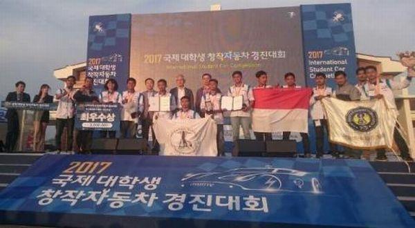 Wah, Mobil Karya Mahasiswa Indonesia Pertahankan Gelar di Korea
