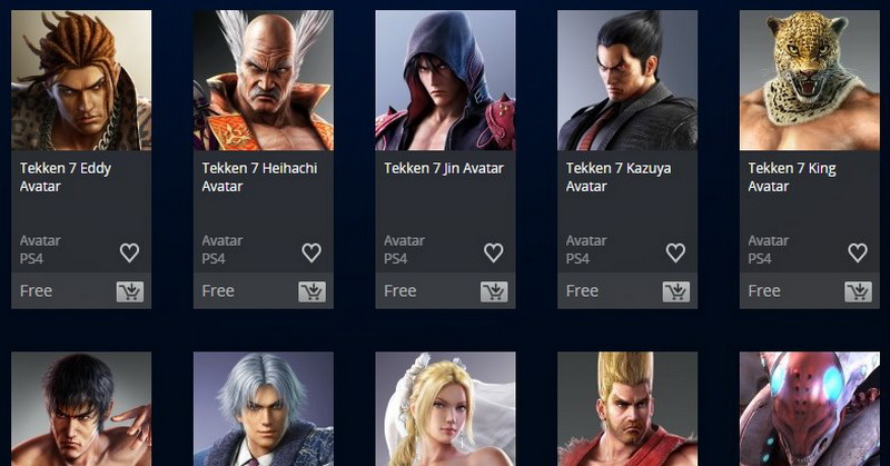 Avatar Tekken 7 Tersedia di PlayStation Store