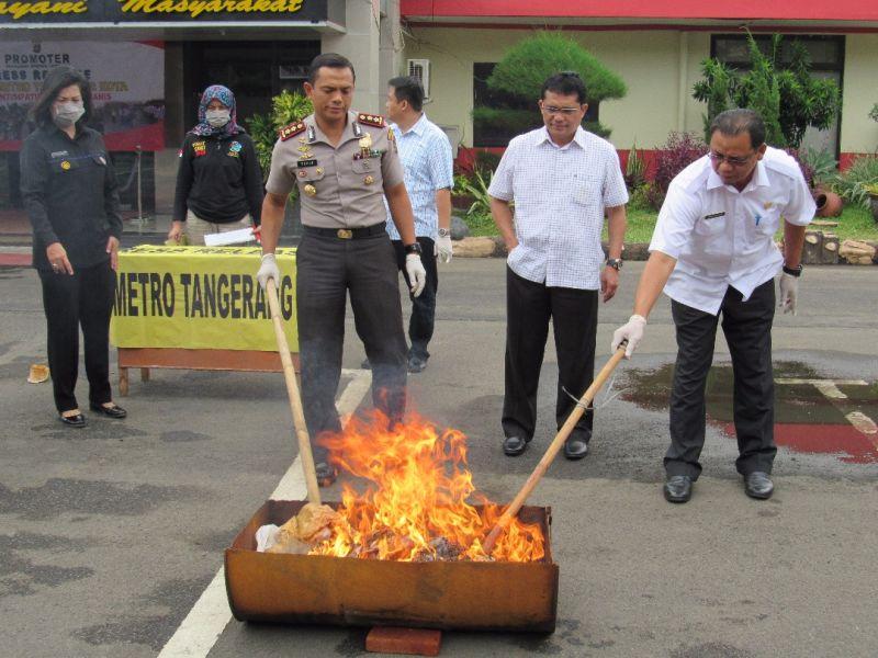Polres Metro Tangerang Kota (Foto: Rikhi/Okezone)