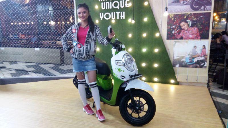 Honda Scoopy jadi primadona di Jakarta Fair Kemayoran 2017 (Foto: Okezone)