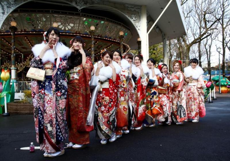 Ilustrasi perempuan Jepang (Foto: Kim Kyung-hoon/Reuters)