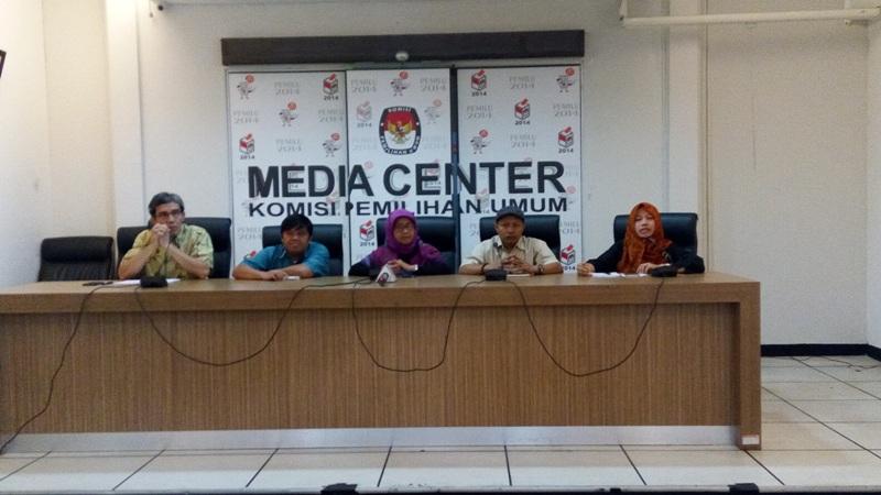 Konferensi pers di Media Center KPU (Fakhri/Okezone)