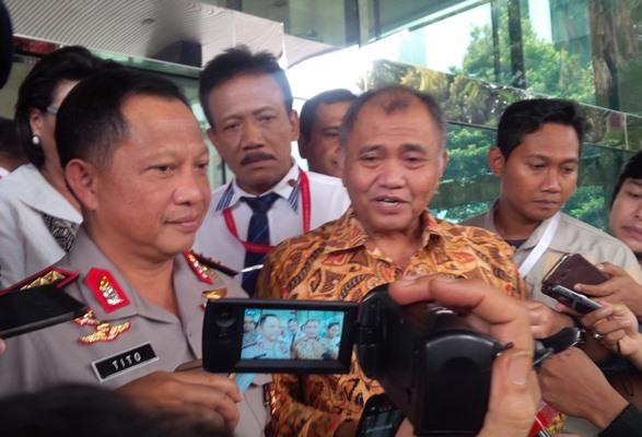 Ketua KPK Agus Rahardjo dan Kapolri Jenderal Tito Karnavian (Foto: Okezone)